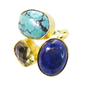 Buy Riyo Turquoise Gold Plate Birthstones Ring Sz 8 Gprmul8-53003 online