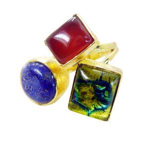 Buy Riyo Red Onyx Gold Plated Online Eternity Ring Sz 8 Gprmul8-53004 online