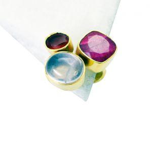 Buy Riyo Ruby 18kt Y Gold Plating Nice Ring Sz 8 Gprmul8-53024 online