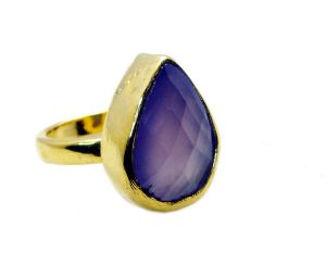 Buy Riyo Purple Chalcedony Gold Plated Wholesale Eternity Ring Sz 7 Gprpch7-62003 online