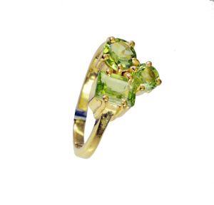 Buy Riyo Peridot Cz 18kt Y.g. Plated Regards Ring Jewelry Sz 7 Gprpecz7-100028 online