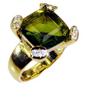 Buy Riyo Peridot Cz Rhodium Plate Engagement Ring Sz 7.5 Gprpecz7.5-100020 online