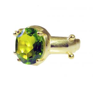 Buy Riyo Peridot Cz 18 Ct Ygold Plated Mothers Ring Sz 8 Gprpecz8-100024 online