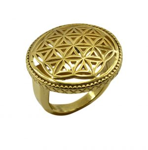 Buy Riyo A Plain 18kt Gold Plated Fashionable Ring Gprpla80-120002 online