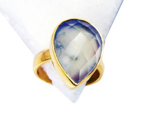 Buy Riyo Prehnite 18kt Y Gold Plating Claddagh Ring Sz 6 Gprpre6-60015 online