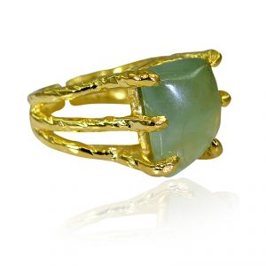 Buy Riyo Prehnite Gold Plated India Sports Ring Sz 6 Gprpre6-60036 online