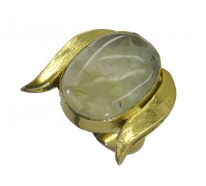 Buy Riyo Green Prehnite 18kt Gold Plated Finelydetailed Ring Gprpre65-60040 online