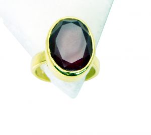 Buy Riyo Red Onyx Jewelry Gold Plated Mourning Ring Sz 6 Gprron6-66010 online