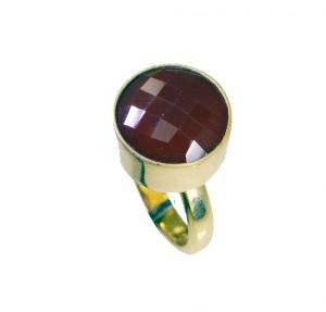 Buy Riyo Red Onyx Base Matel Y Gold Wedding Ring Jewelry Sz 6 Gprron6-66043 online