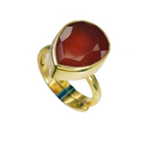 Buy Riyo Red Onyx 18.kt Gold Platings Mori Ring Sz 6 Gprron6-66053 online