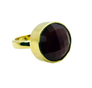 Buy Riyo Red Onyx Gold Plate Ring Sz 7 Gprron7-66017 online