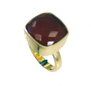 Buy Riyo Red Onyx 18 C Gold Plating Sports Ring Sz 7 Gprron7-66040 online