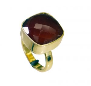 Buy Riyo Red Onyx 18c Gold Plated Thumb Ring Sz 8.5 Gprron8.5-66041 online