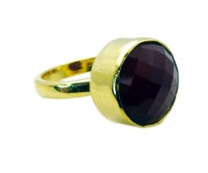 Buy Riyo Red Onyx 18 C Gold Plated Gimmal Ring Sz 9 Gprron9-66030 online
