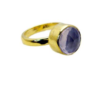 Buy Riyo Rose Quartz 18k Y Gold Plate Nice Ring Sz 8 Gprroq8-68020 online