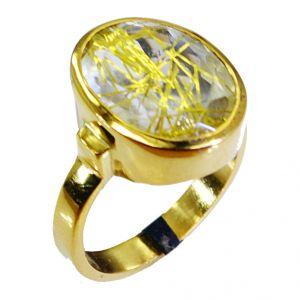 Buy Riyo Rutiled Quartz Cz Gold Plate Nice Ring Sz 8 Gprrqcz8-106011 online