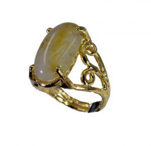 Buy Riyo Rutilated Quartz 18kt Gold Plating Promise Ring Sz 8 Gprruq8-70014 online