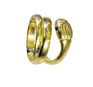 Buy Riyo Gemstone 18kt Gold Plated Snake Ring Gprsna70-290005 online