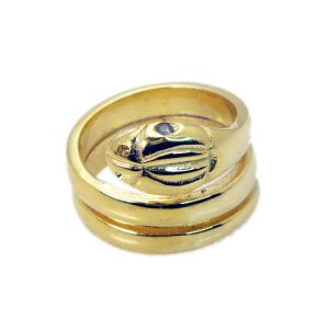 Buy Riyo Gemstone 18kt Gold Plated Snake Ring Gprsna80-290008 online