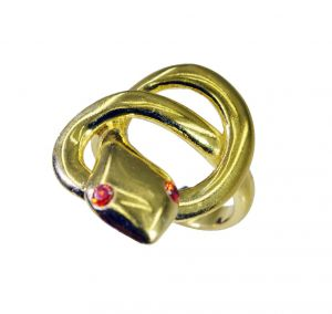Buy Riyo Gemstone 18kt Gold Plated Snake Ring Gprsna80-290009 online