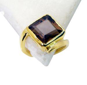 Buy Riyo Smoky Quartz 18ct Ygold Plate Cameo Ring Sz 5 Gprsqu5-76005 online
