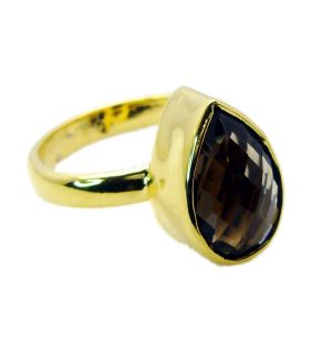 Buy Riyo Smoky Quartz Gold Plated Online Beautiful Ring Sz 9 Gprsqu9-76068 online