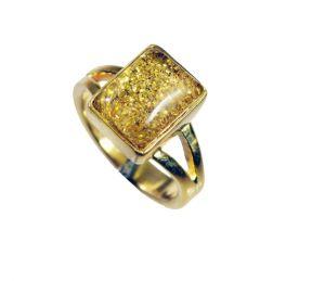 Buy Riyo Sunstone 18c Gold Polish Eternity Ring Sz 7 Gprsun7-78004 online