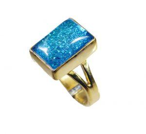 Buy Riyo Sunstone 18k Gold Plated Eternity Ring Sz 7 Gprsun7-78037 online