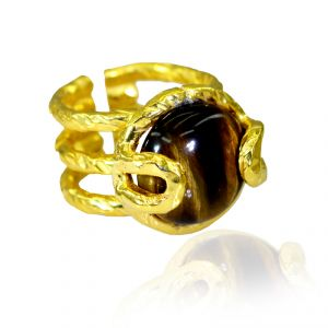 Buy Riyo Tiger Eye Gold Plated Online Regards Ring Jewelry Sz 5.5 Gprtey5.5-80001 online