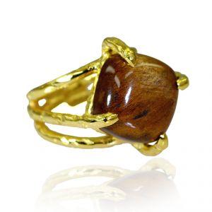 Buy Riyo Tiger Eye Fine Gold Plated Wedding Bands Sz 6 Gprtey6-80004 online