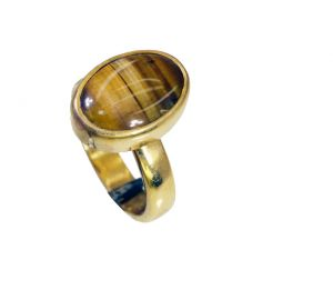 Buy Riyo Tiger Eye 18 Kt Y.g. Plated Eternity Ring Sz 6 Gprtey6-80043 online