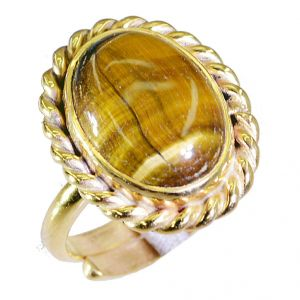 Buy Riyo Tiger Eye 18c Gold Plating Mothers Ring Sz 6.5 Gprtey6.5-80032 online