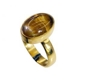 Buy Riyo Tiger Eye 18kt Gold Plated Purity Ring Jewelry Sz 8 Gprtey8-80046 online