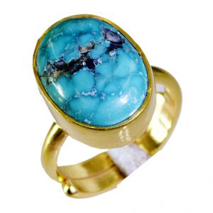 Buy Riyo Turquoise Cheap Gold Plated Ecclesiastical Ring Sz 5 Gprtur5-82009 online