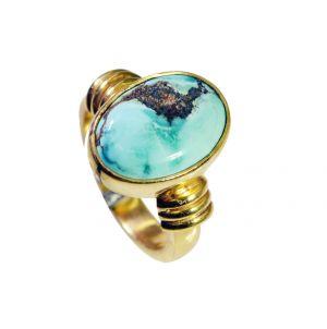 Buy Riyo Turquoise 18-kt Gold Plating Mourning Ring Sz 5 Gprtur5-82095 online