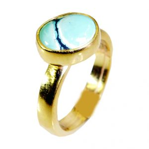 Buy Riyo Turquoise Gold Plated India Posie Ring Sz 6 Gprtur6-82015 online