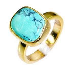 Buy Riyo Turquoise Jewelry Gold Plated Wedding Ring Jewelry Sz 6 Gprtur6-82023 online
