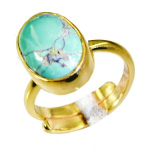 Buy Riyo Turquoise Gold Plated India Mourning Ring Sz 6 Gprtur6-82029 online