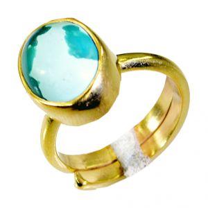 Buy Riyo Turquoise Gold Plated Online Bridal Rings Sz 6 Gprtur6-82031 online
