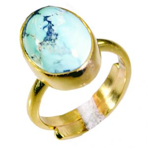 Buy Riyo Turquoise Gold Plated Sets Mori Ring Sz 6 Gprtur6-82033 online
