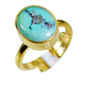 Buy Riyo Turquoise Wholesale Gold Plate Aqiq Ring Sz 6.5 Gprtur6.5-82038 online