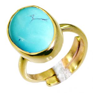 Buy Riyo Turquoise 18c Gold Polish Wedding Bands Sz 7 Gprtur7-82055 online
