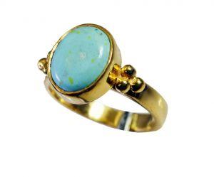 Buy Riyo Turquoise Base Matel Y Gold Regards Ring Jewelry Sz 7 Gprtur7-82148 online