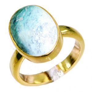 Buy Riyo Turquoise 18k Y Gold Plate Aqiq Ring Sz 8 Gprtur8-82071 online