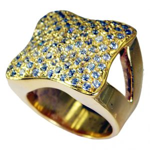 Buy Riyo White Cz 18 Kt Gold Plated Bridal Rings online