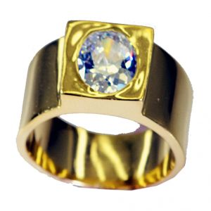 Buy Riyo White Cz Gold Plated Mori Ring Sz 8.5 Gprwhcz8.5-110019 online
