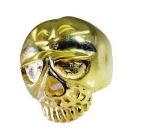 Buy Riyo A Plain 18kt Gold Plated Skull Ring Gprskull50-280002 online