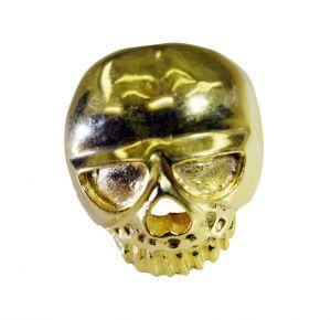 Buy Riyo A Plain 18kt Gold Plated Skull Ring Gprskull60-280004 online
