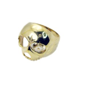 Buy Riyo Gemstone 18kt Gold Plated Skull Ring Gprskull70-280006 online
