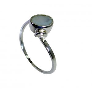 Buy Riyo Aqua Chalcedony Silver Jewelry Women Antique Silver Ring Sz 8 Srach8-4021 online